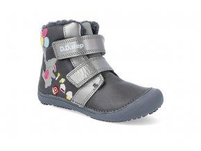 barefoot zimni obuv d d step w063 422a grey W063 422AM 2