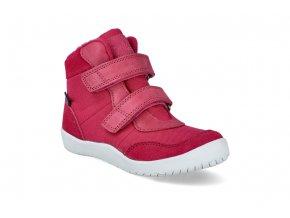barefoot kotnikova obuv s membranou bundgaard birk tex dark pink ws BG303242 717 2