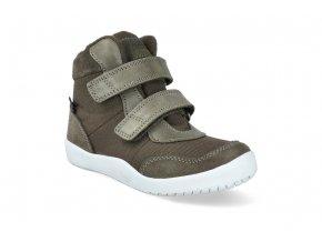 barefoot kotnikova obuv s membranou bundgaard billie army ws BG303242 608 4