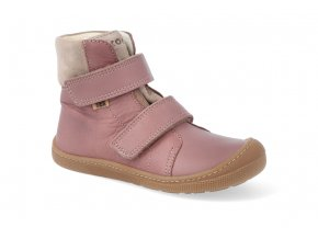 barefoot zimni obuv s membranou koel4kids emil nappa tex old pink 24 31 07T003.102 600 4