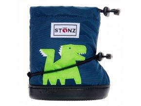 stonz booties toddler dragon navy blue