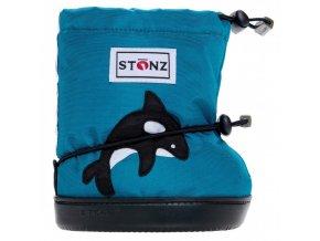 stonz booties toddler orca teal