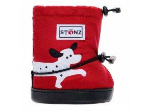 stonz booties toddler dalmatian red