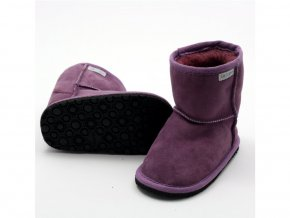 Zimní barefoot obuv Zeazoo - DINGO Purple