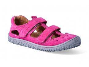 filii barefoot sandaly pink klett w 2