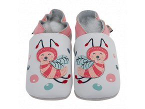 Chaussons cuir Abeille Front