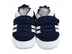 Chaussons cuir Baskets Marine Front