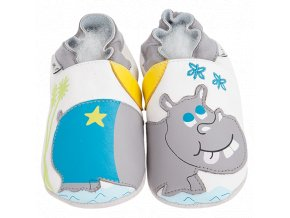 Chaussons cuir Hippo Front