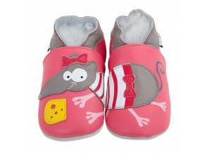 Chaussons cuir Souris Front