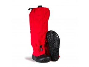 Kotníková barefoot obuv MyMayu - Explorer Červená/černá
