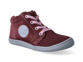 kotnikova obuv filii barefoot gecko laces berry m 2