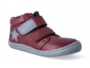 Kotníková barefoot obuv Filii - Chameleon Nappa Berry Fleece M