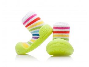 Barefoot capáčky Attipas - Rainbow Green