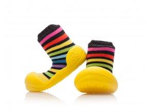Barefoot capáčky Attipas - Rainbow Yellow