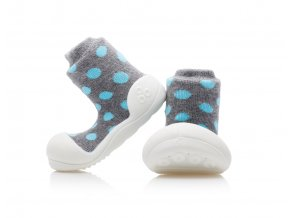 Barefoot capáčky Attipas - Polka Dot Grey