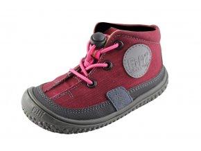 Barefoot obuv Filii - MAMBA vegan tex quick lock textile berry