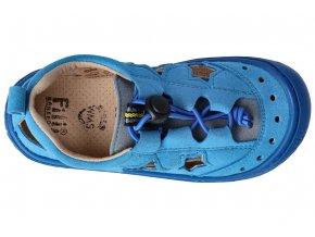 Filii Barefoot SEA STAR vegan quick lock textile turquoise/blue M