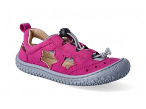 barefoot sandaly filii sea star vegan quick lock textile pink stone 2