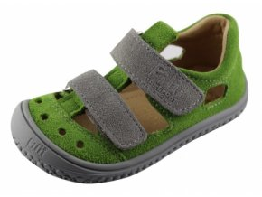 Filii Barefoot KAIMAN velcro velours apple/grey M