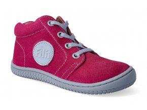 kotnikova obuv filii barefoot gecko laces velours pink 3