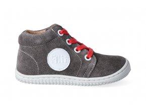 Kotníková barefoot obuv Filii - GECKO laces velours graphit M