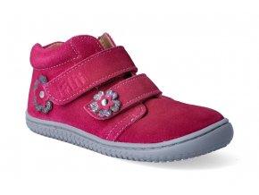 kotnikova obuv filii barefoot chameleon velcro velours pink m 2