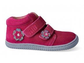 Filii barefoot - CHAMELEON velcro velours pink M