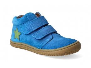 kotnikova obuv filii barefoot chameleon velcro velours electric blue m 3
