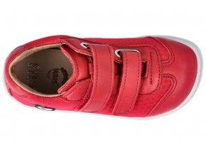 Filii barefoot LEGUAN velcro nappa/textile strawberry M