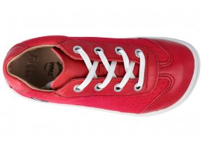 Barefoot tenisky Filii - COBRA laces nappa/textile strawberry
