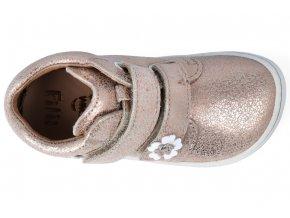 Filii Barefoot - CHAMELEON velcro velours rose gold M