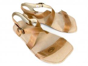 Barefoot sandály ORTO+ - světle hnědé 03