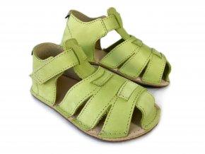 Barefoot sandálky ORTO+ - dětské hráškové 008
