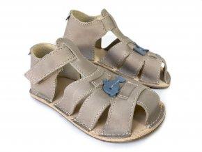 Barefoot sandálky ORTO+ - dětské šedé 06/3