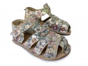 ORTO+ Barefoot sandály dětské třpytivé 011