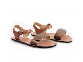 vibe barefoot women s sandals laminated bronze in stock 5464 4