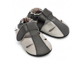 liliputi soft baby sandals stone 3043
