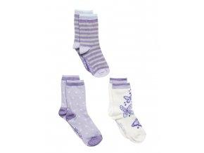 Move by Melton set 3 ks ponožek Cloud Lilac
