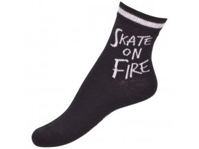 Ponožky Move by Melton - Skate on Fire Black