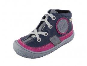 Zimní barefoot obuv Filii - TEX Fleece ocean/pink