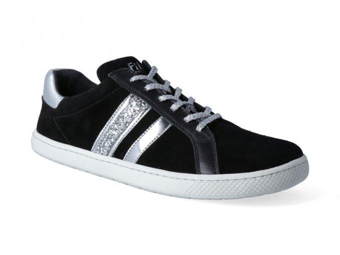 barefoot tenisky filii adult topmodell velours black 2