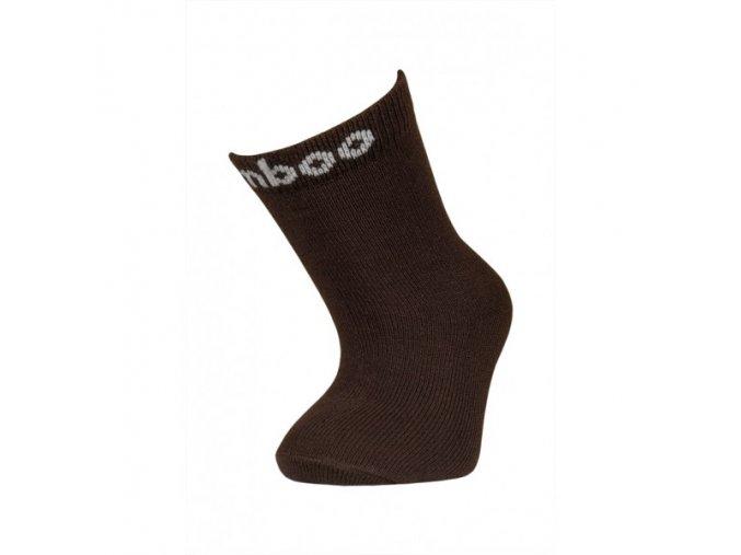 104(2) detske bambusove ponozky trepon bobik hnede
