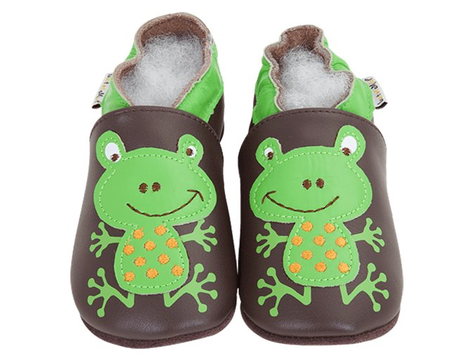 4260 chaussons cuir grenouille front