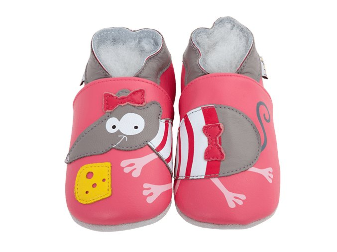 4275 chaussons cuir souris front