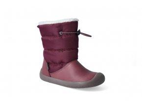 barefoot zimni obuv s membranou bundgaard walker pull tex plum 3