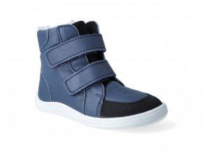 Barefoot zimná obuv s membránou Baby Bare - Febo Winter Navy Asfaltico