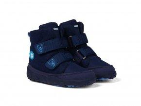 Barefoot zimná obuv s membránou Affenzahn - Minimal Midboot Wool Bear