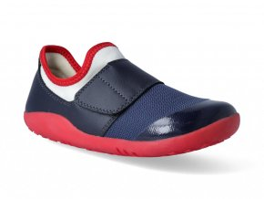 Barefoot tenisky Bobux - Dimension II Navy + Red