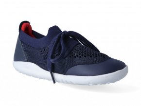 Barefoot tenisky Bobux - Play Knit Navy + Red