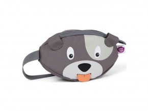 Detská ľadvinka Affenzahn Hip-Bag - Dog David - grey